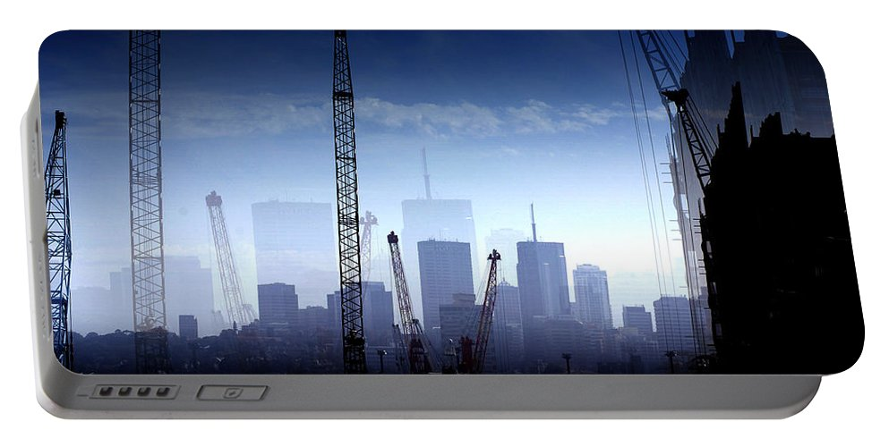Landscape Portable Battery Charger featuring the photograph Growth in the City by Holly Kempe