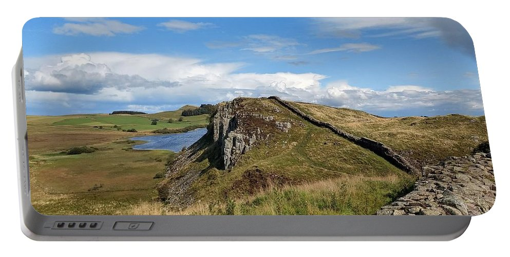 Landscape Portable Battery Charger featuring the photograph Hadrianswall by Pop