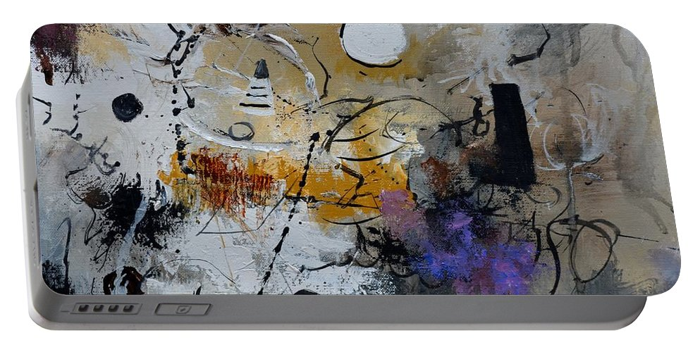 Abstract Portable Battery Charger featuring the painting Hamilcar s strategy by Pol Ledent