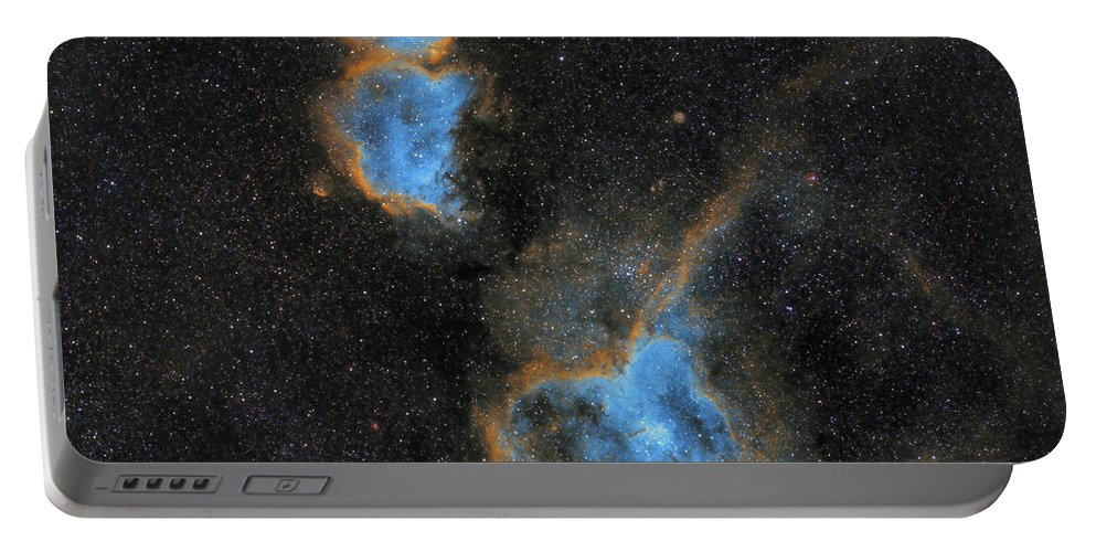 Nebula Portable Battery Charger featuring the photograph Heart and Soul Nebula by Prabhu Astrophotography