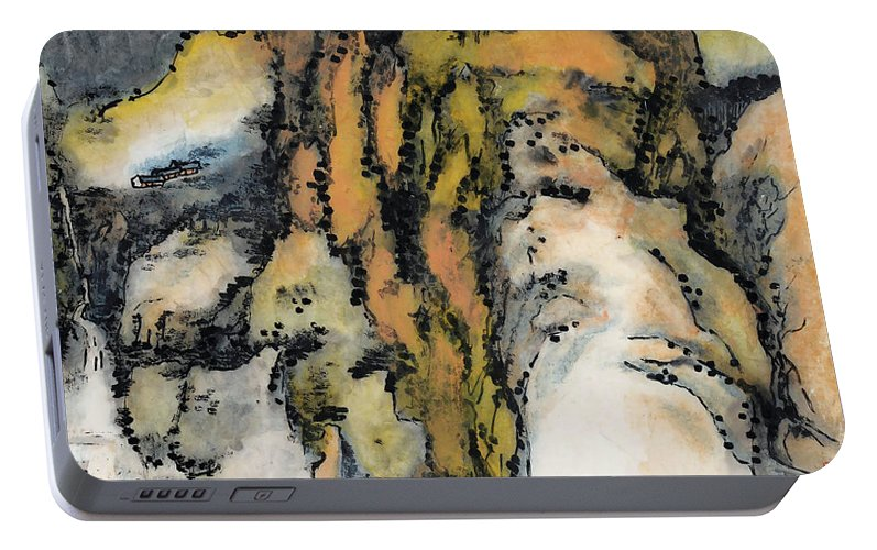 Lai Shaoji Portable Battery Charger featuring the painting High Mountains And Flowing Water In    by Lai Shaoji