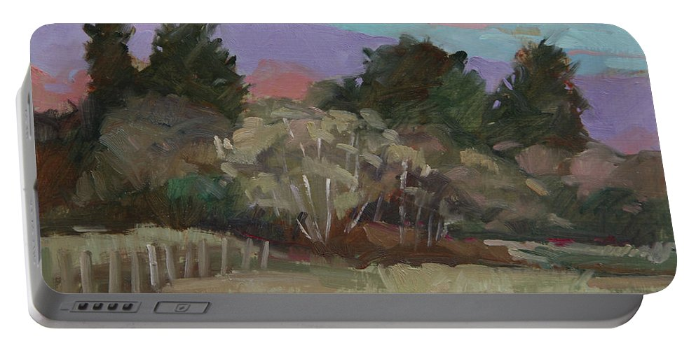 Northern California Portable Battery Charger featuring the painting Humbolt Fields by Betty Jean Billups