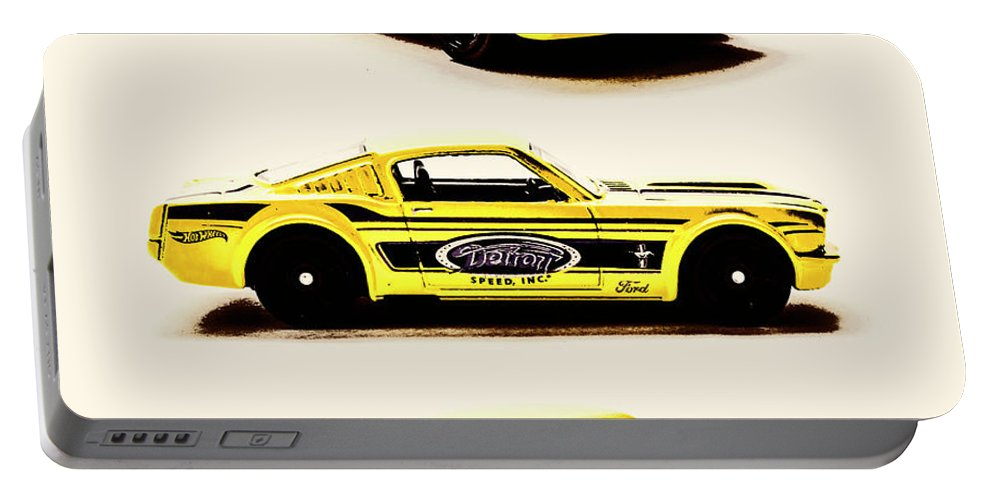 Cars Portable Battery Charger featuring the photograph In Racing Yellow by Jorgo Photography - Wall Art Gallery