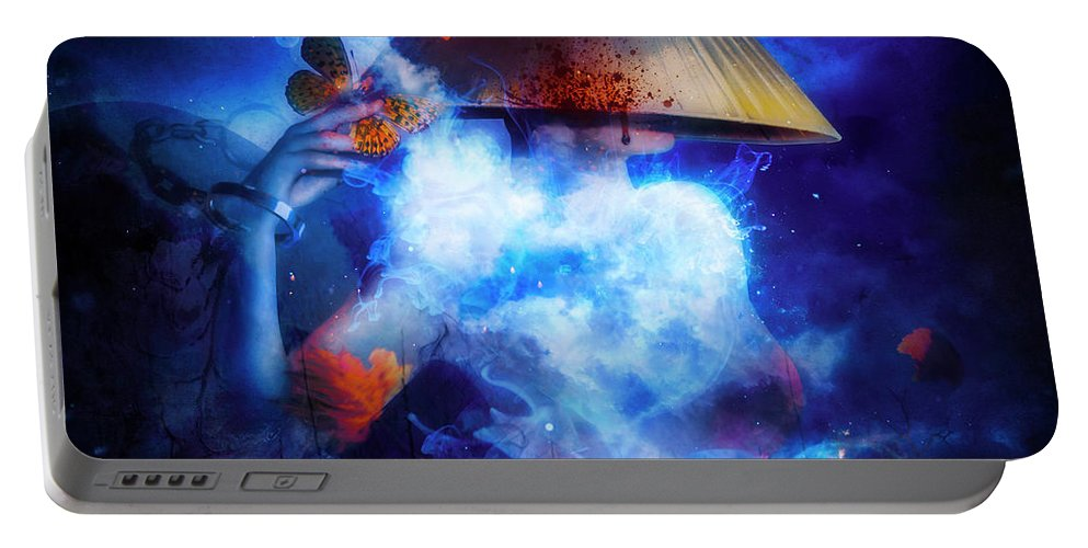 Gothic Portable Battery Charger featuring the digital art Interlude by Mario Sanchez Nevado