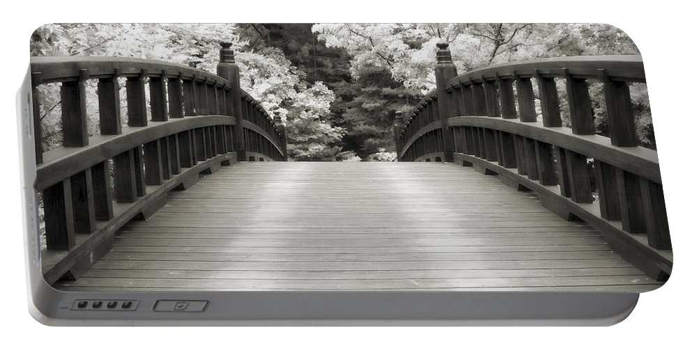 3scape Portable Battery Charger featuring the photograph Japanese Dream Infrared by Adam Romanowicz