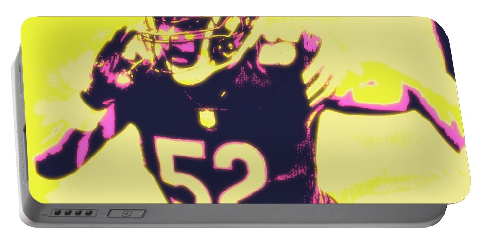 Khalil Portable Battery Charger featuring the painting Khalil Mack by Jack Bunds