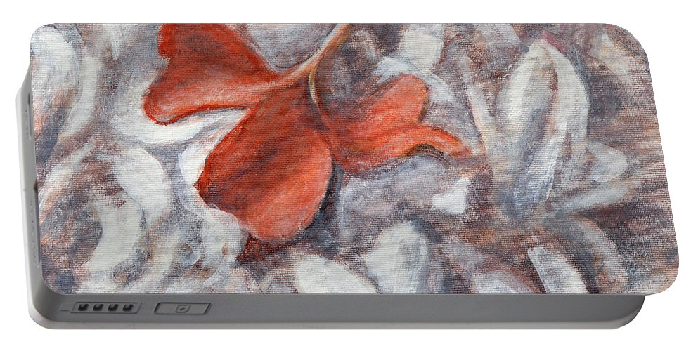 Little Flowers Portable Battery Charger featuring the painting Little Flowers 2 by Usha Shantharam