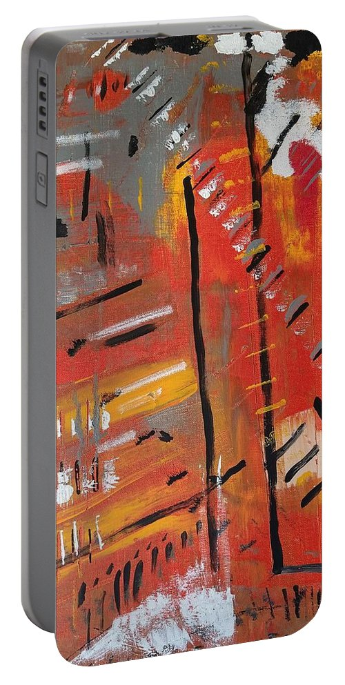 Colorado Portable Battery Charger featuring the painting Looking Like October by Pam Roth O'Mara