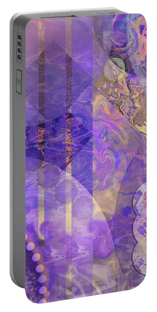Lunar Impressions 2 Portable Battery Charger featuring the digital art Lunar Impressions 2 by John Robert Beck
