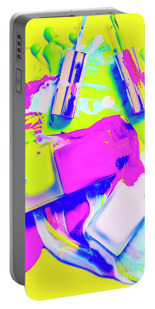 Retro Portable Battery Charger featuring the photograph Manic Cured by Jorgo Photography - Wall Art Gallery