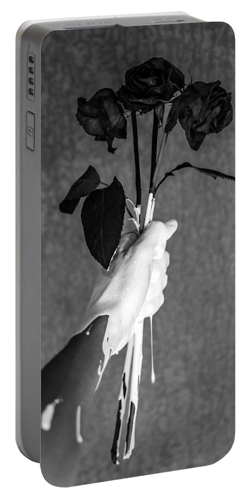 Flowers Portable Battery Charger featuring the photograph Moment by Brendan North