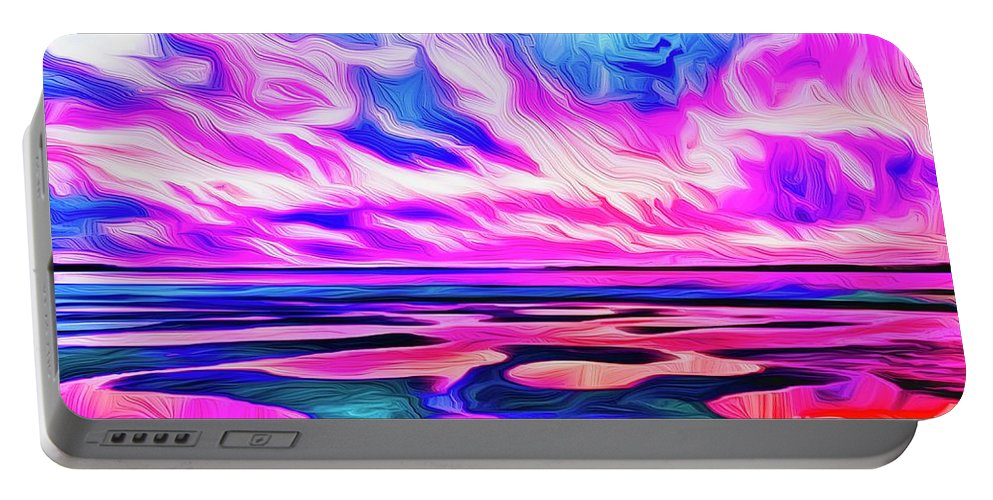 Landscape Portable Battery Charger featuring the digital art Morning Reflections by Michael Stothard