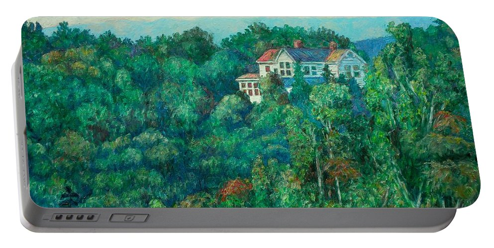 Landscape Portable Battery Charger featuring the painting Near Memorial Bridge by Kendall Kessler