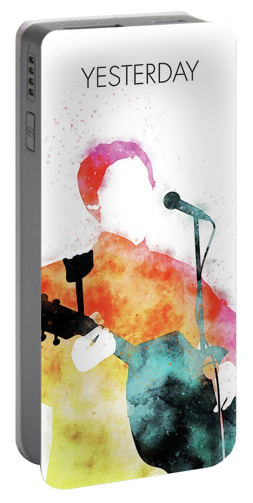 Paul Portable Battery Charger featuring the digital art No076 MY PAUL MCCARTNEY Watercolor Music poster by Chungkong Art