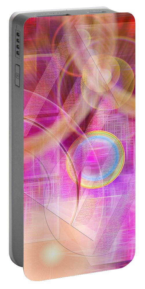 Northern Lights Portable Battery Charger featuring the digital art Northern Lights by John Robert Beck