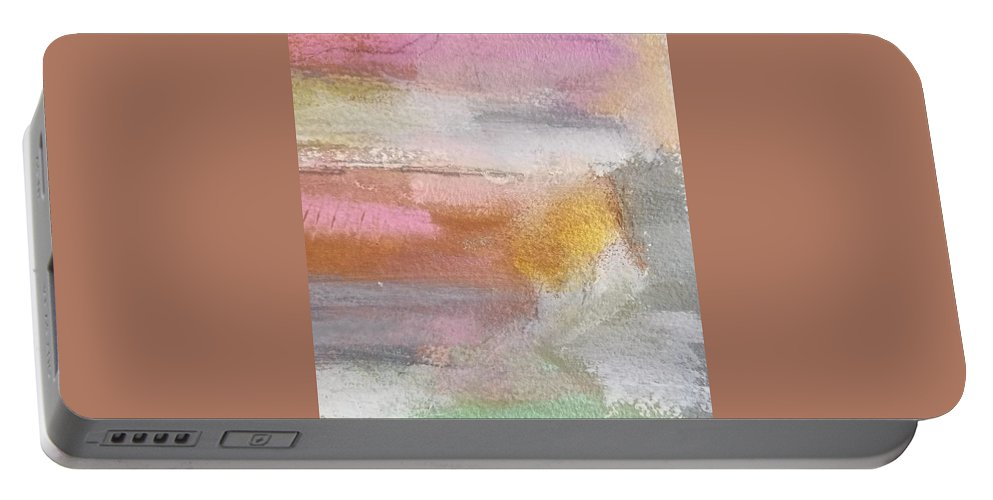 Abstract Portable Battery Charger featuring the painting Nothing Can Dim the Light by Patricia Byron