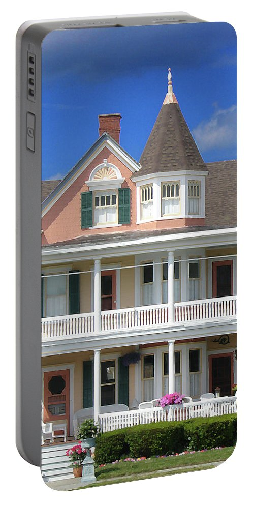Architecture Portable Battery Charger featuring the photograph Ocean Grove Victorian by Steve Karol