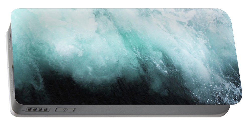 Ocean Portable Battery Charger featuring the photograph Ocean Spray by Cassia Beck