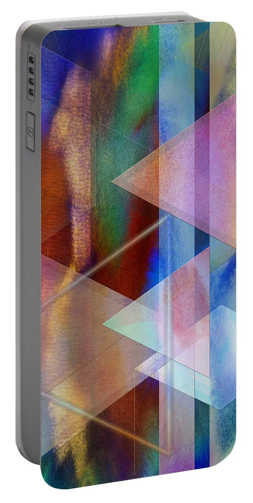 Pastoral Midnight Portable Battery Charger featuring the digital art Pastoral Midnight by John Robert Beck