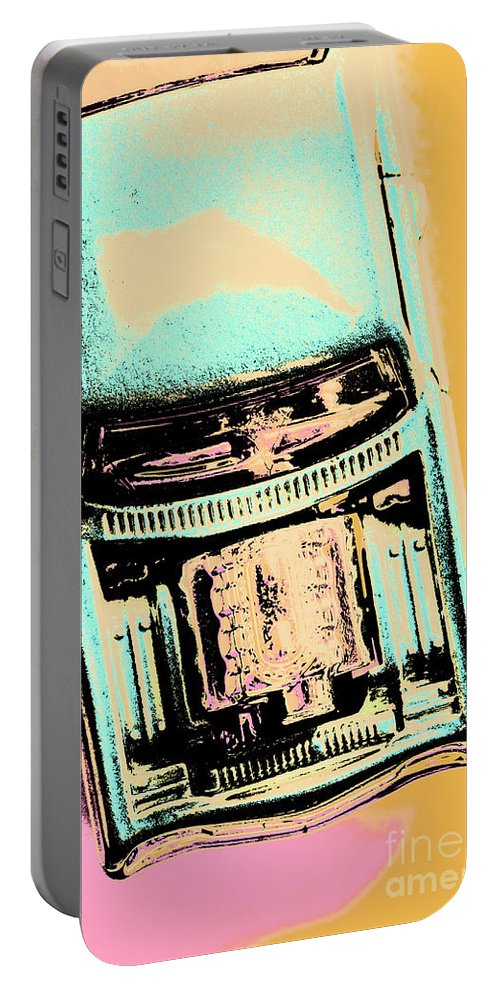 Retro Portable Battery Charger featuring the photograph Power Pop Art by Jorgo Photography - Wall Art Gallery