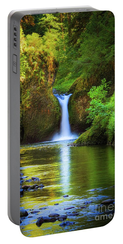 America Portable Battery Charger featuring the photograph Punchbowl Falls by Inge Johnsson