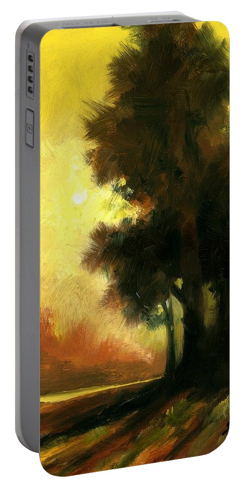 Landscape Portable Battery Charger featuring the painting Sailors Delight by Jim Gola