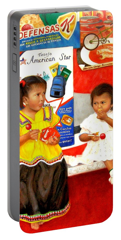 Realism Portable Battery Charger featuring the painting Same by Donelli DiMaria