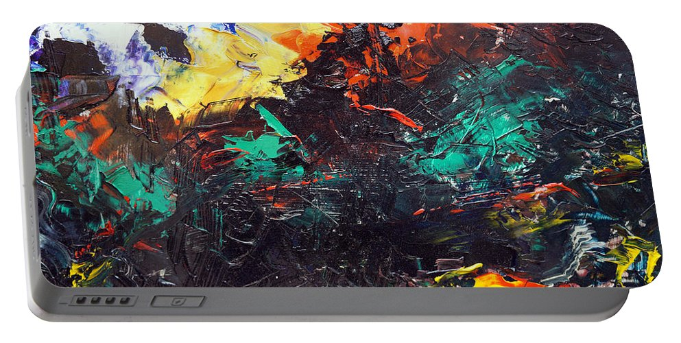 Vision Portable Battery Charger featuring the painting Schizophrenia by Sergey Bezhinets
