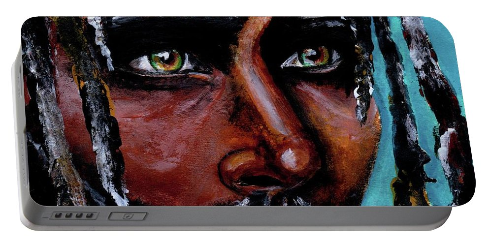 Eyes Portable Battery Charger featuring the painting Selfless Life by Artist RiA