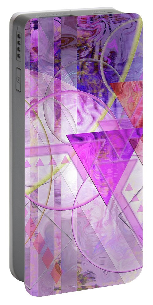 Shibumi Portable Battery Charger featuring the digital art Shibumi Spirit by John Robert Beck