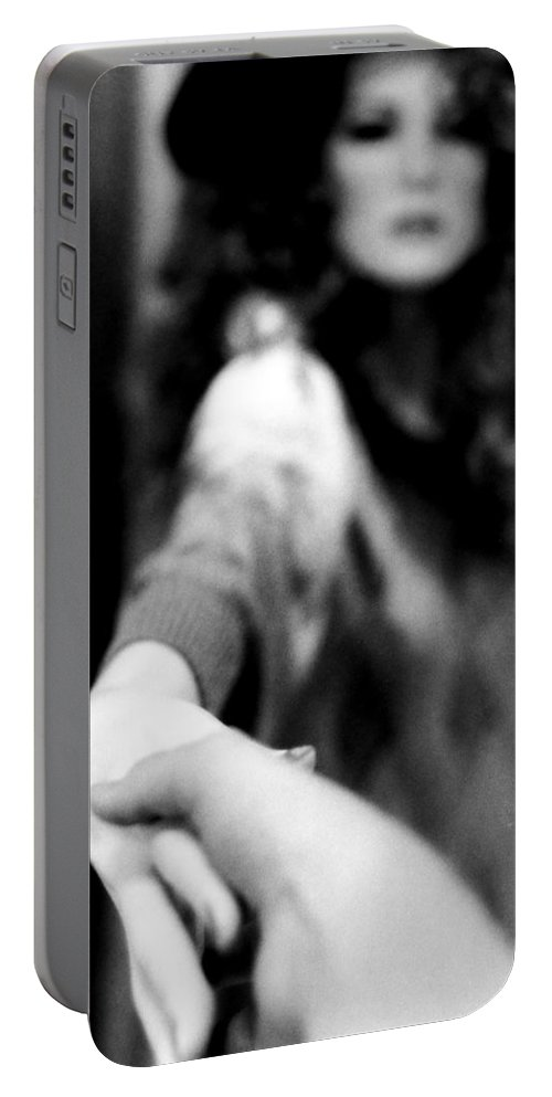 Mannequin Portable Battery Charger featuring the photograph Shopgirl by Michelle Calkins
