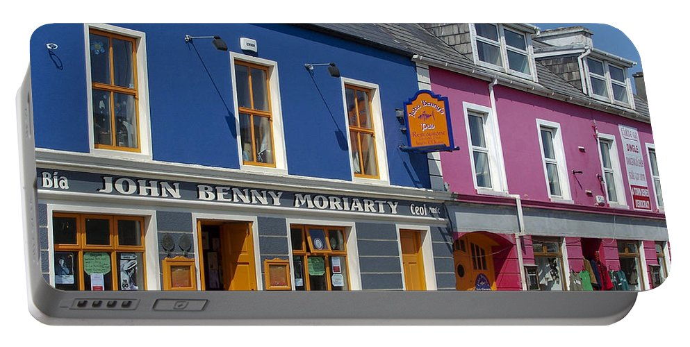 Irish Portable Battery Charger featuring the photograph Strand Street in Dingle Ireland by Teresa Mucha