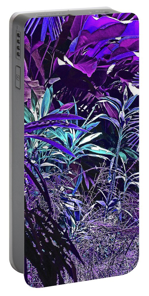 Pink Portable Battery Charger featuring the photograph Strange Jungle by Ian MacDonald