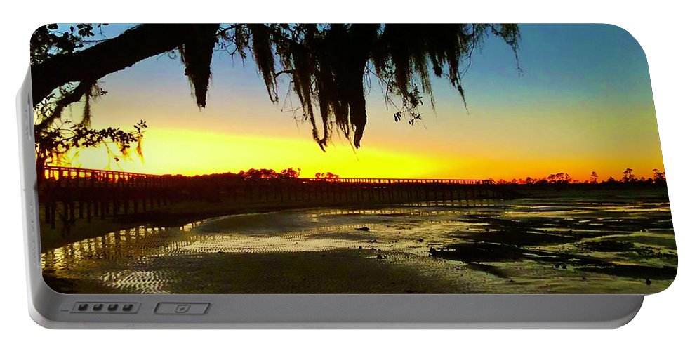 Landscape Portable Battery Charger featuring the photograph Sunset 1 by Michael Stothard
