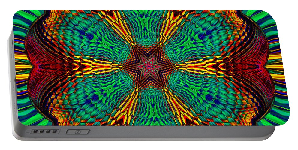 Portable Battery Charger featuring the digital art Tesla's Design by Steve Solomon