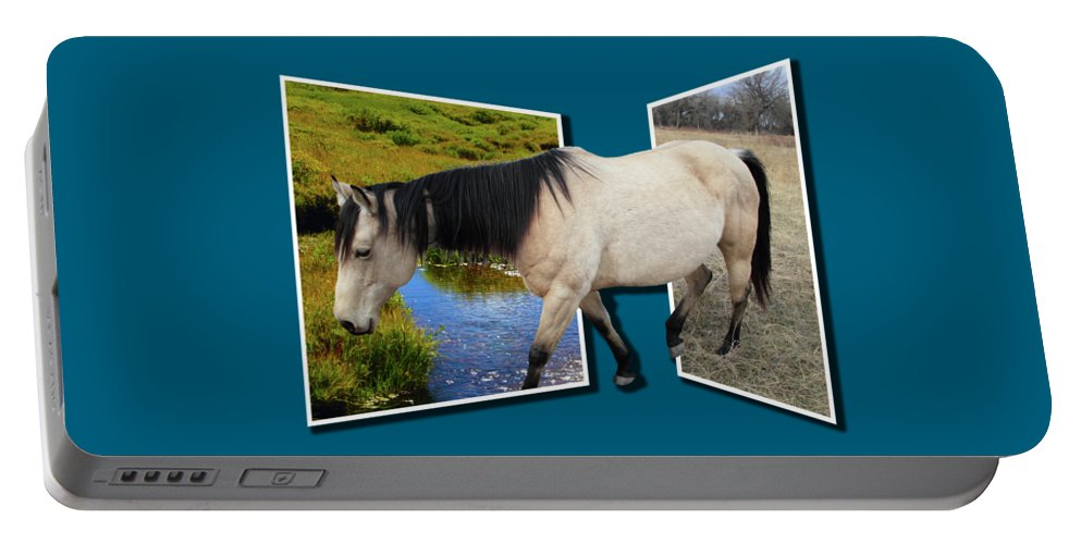 Horse Portable Battery Charger featuring the photograph The Grass Is Always Greener On The Other Side by Shane Bechler