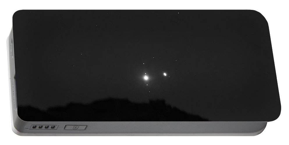 Portable Battery Charger featuring the photograph The Last sight of the Conjunction by Prabhu Astrophotography