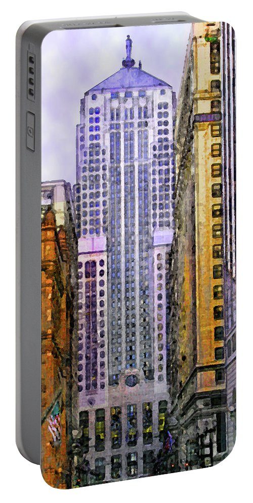 Trading Places Portable Battery Charger featuring the digital art Trading Places by John Robert Beck