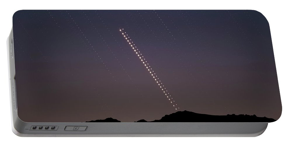 Portable Battery Charger featuring the photograph Trails of the Great Planetary Conjunction by Prabhu Astrophotography