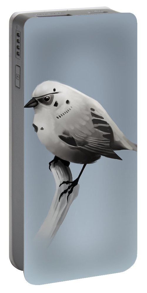 Birds Portable Battery Charger featuring the digital art Trooper Bird by Michael Myers