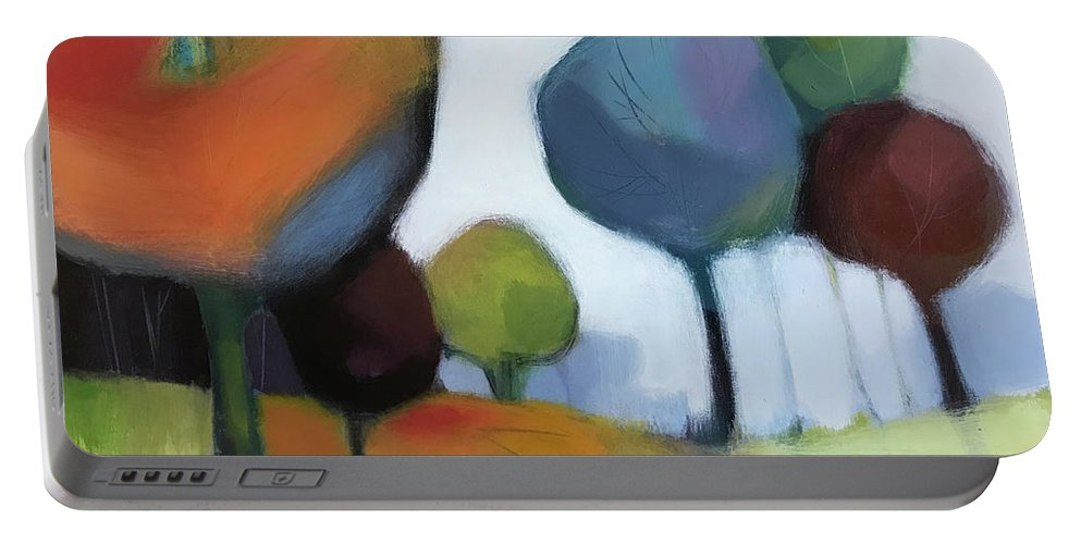 Landscape Portable Battery Charger featuring the painting Untitled III by Farhan Abouassali