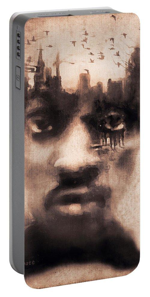 Digital Image Portable Battery Charger featuring the digital art Urban Mindset by Regina Wyatt