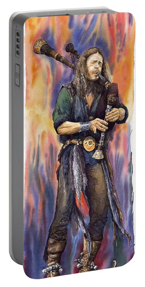 Watercolour Portable Battery Charger featuring the painting Varius Coloribus Nils by Yuriy Shevchuk