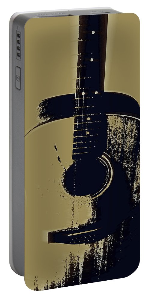 Vintage Guitar Art Portable Battery Charger featuring the photograph Vintage Guitar by Linda Sannuti
