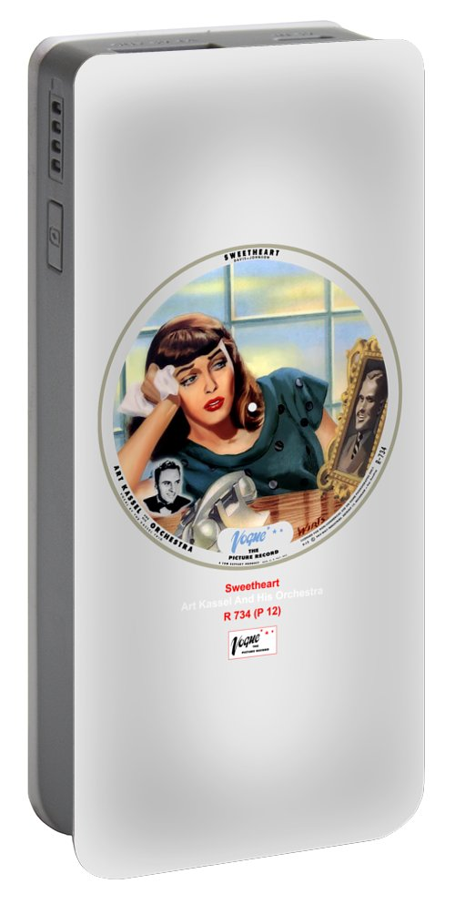 Vogue Picture Record Portable Battery Charger featuring the digital art Vogue Record Art - R 734 - P 12 by John Robert Beck