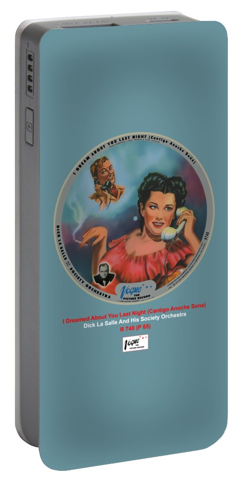Vogue Picture Record Portable Battery Charger featuring the digital art Vogue Record Art - R 740 - P 85 by John Robert Beck