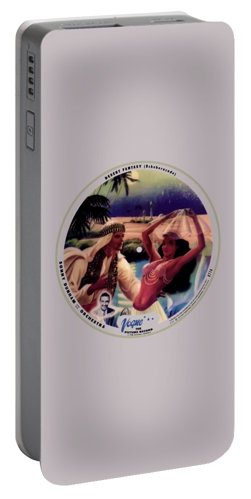 Vogue Picture Record Portable Battery Charger featuring the digital art Vogue Record Art - R 774 - P 141 - Square Version by John Robert Beck