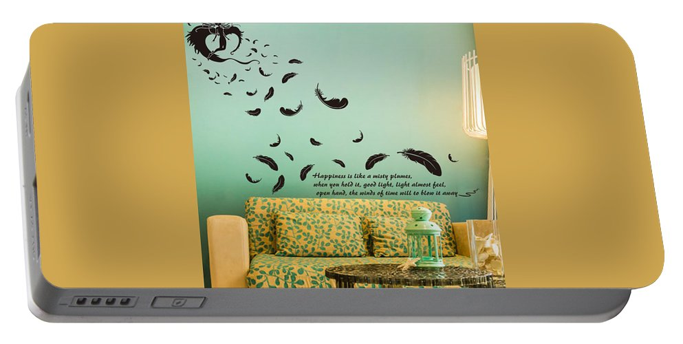 Portable Battery Charger featuring the digital art Wall art by Wild