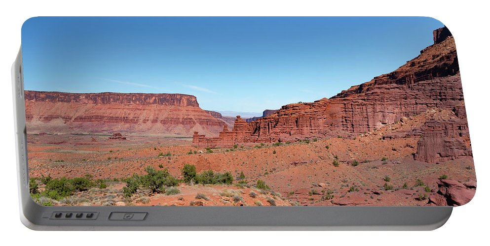 Fisher Towers Portable Battery Charger featuring the photograph Wild Utah Landscape by Jim Thompson