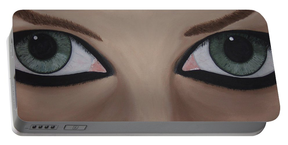 Eye Catching Portable Battery Charger featuring the painting Window II by Dean Stephens